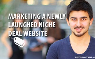 Marketing a newly launched niche deal website