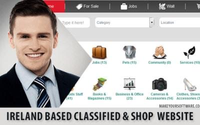 Ireland based Classified & Shop Website