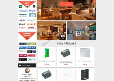 Portfolio : Online UK LED Shop In WordPress