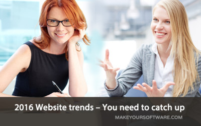 2016 Website trends – You need to catch up