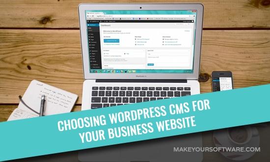 business website on WP CMS